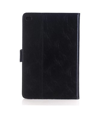 Crazy Horse Crazy Horse lederen Smart Case met standaard voor iPad Pro 12.9 inch - zwart