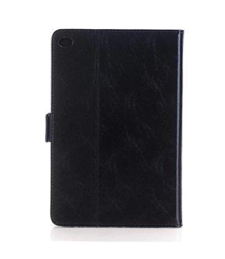 Crazy Horse Lederen Smart Case met standaard voor iPad Pro 12.9 inch - zwart