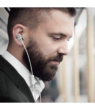 Baseus BASEUS Encok H07 L-vormige 3,5 mm plug Universele bedrade koptelefoon met microfoon en drive-by-wire - wit