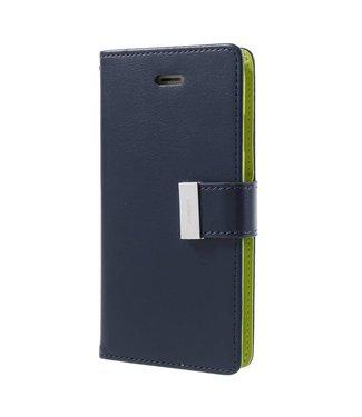 Goospery MERCURY GOOSPERY 'Rich Diary' PU Leren Portemonnee hoes iPhone 8/7 4.7 inch - Blauw