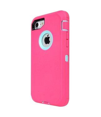 ZWC Robuuste Schokbestendige Spatwater- en Stofdichte Hoes voor iPhone 8/7 - Licht Roze