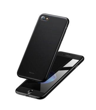 Baseus BASEUS Mat PC + TPU Combo Hoes + Screen Protector voor iPhone 8/7 4.7 inch - Zwart