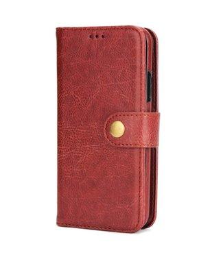 2-in-1 multifunctionelePU Lederen portefeuille + afneembare achterkant voor iPhone X - Bruin
