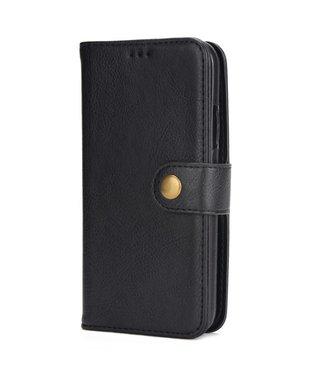 2-in-1 multifunctionelePU Lederen portefeuille + afneembare achterkant voor iPhone X - Zwart
