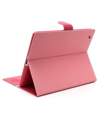 Goospery Mercury Goospery PU Lederen Wallet Hoes voor iPad 2/3/4 - Roze