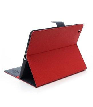 Goospery Mercury Goospery PU Lederen Wallet Hoes voor iPad 2/3/4 - Rood