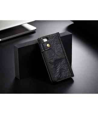 Caseme CASEME vintage stijl PU lederen Hoes voor iPhone 5 / 5s / SE - Zwart