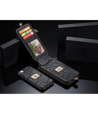 Caseme CASEME  2-in-1 Leren Wallet Hoes iPhone 7/8/SE 2020 4,7 inch - Zwart