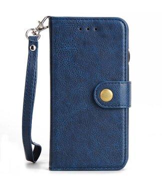 ZWC 2-in-1 PU Lederen portefeuille + afneembare achterkant voor iPhone X - Blauw
