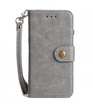 2-in-1 multifunctionelePU Lederen portefeuille + afneembare achterkant voor iPhone X - Grijs