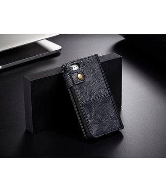 Caseme CASEME vintage stijl PU iphone 5 hoesje / 5s / SE - Blauw