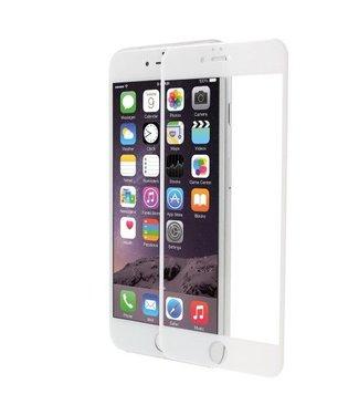 PDGD Screenprotector PDGD iPhone 6/6s Full Size gehard glas 3D gebogen scherm - Wit