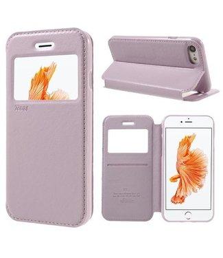 Roar ROAR PU Lederen Venster Hoes voor iPhone 8/7 4.7 inch - Roze