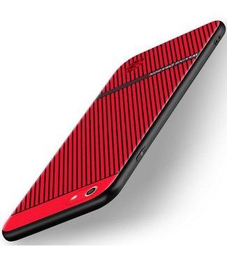 Waking Dragon TPU Backcase Geribbelde Structuur voor iPhone 6s / 6 - Rood