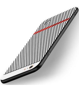 Waking Dragon TPU Backcase Geribbelde Structuur voor iPhone 6s / 6 - Grijs/Wit