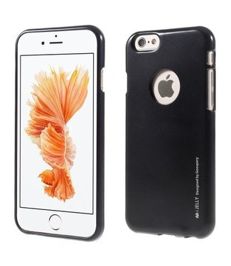 Mercury Goospery MERCURY GOOSPERY i JELLY TPU Softcase Metallic Finish voor iPhone 6s, 6  - Zwart