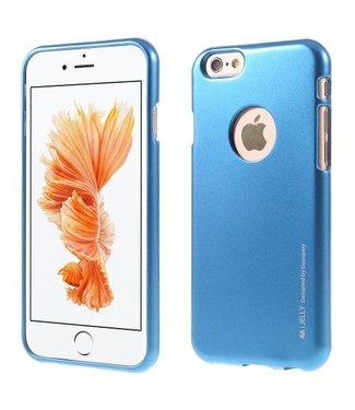 Mercury Goospery MERCURY GOOSPERY i JELLY TPU Softcase Metallic Finish voor iPhone 6s, 6  - Blauw