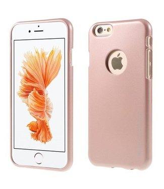 Mercury Goospery MERCURY GOOSPERY i JELLY TPU Softcase Metallic Finish voor iPhone 6s, 6  - Roze/Goud