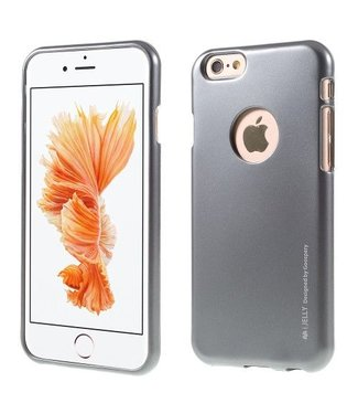 Mercury Goospery MERCURY GOOSPERY i JELLY TPU Softcase Metallic Finish voor iPhone 6s, 6  - Grijs