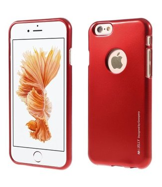 Goospery MERCURY GOOSPERY i JELLY TPU Softcase Metallic Finish voor iPhone 6s, 6  - Rood