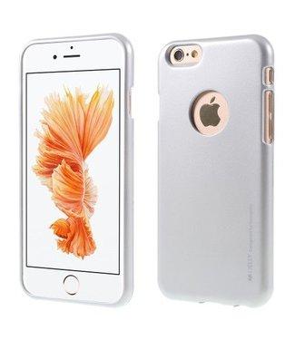 Mercury Goospery MERCURY GOOSPERY i JELLY TPU Softcase Metallic Finish voor iPhone 6s, 6  - Zilver