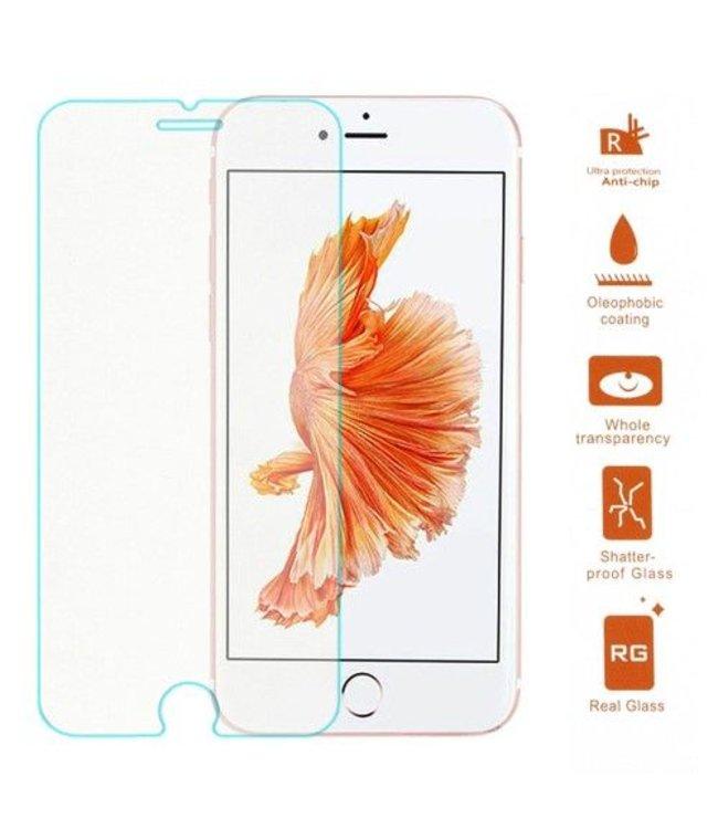 ZWC Screenprotector Gehard Gebogen rand iPhone 8/7