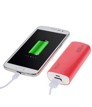 TVC LEYOU LE-230 5000mAh Power Bank voor iPhone Samsung LG HTC - Roze