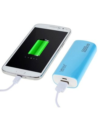 TVC LEYOU LE-230 5000mAh Power Bank voor iPhone Samsung LG HTC - Blauw