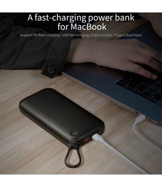 Baseus BASEUS 20000mAh 18W Power Bank- Zwart