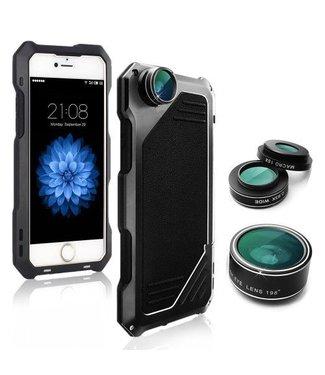 ZWC Schok- en vuilbestendige hoes met verwisselbare Lens voor iPhone 8/7 4.7 - Zwart