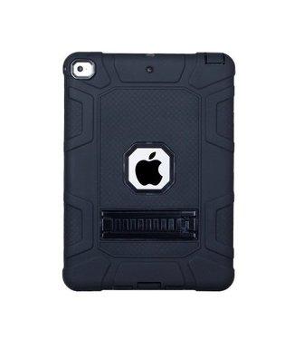 TVC Armour Defender Kickstand Siliconen Hybrid Case voor iPad 9.7 (2018) / 9.7 (2017) - Zwart