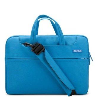 Pofoko POFOKO stoffen schoudertas voor iPad Pro / Macbook Air Pro 13,3 inch - Blauw