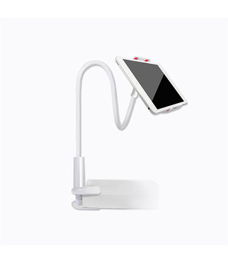 360gr. Flexible Arm iPad / iPhone Stand houder - Wit