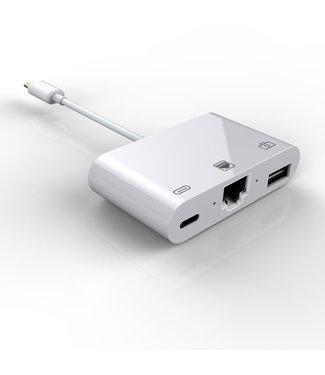 Lightning naar ethernet adapter voor iphone ipad