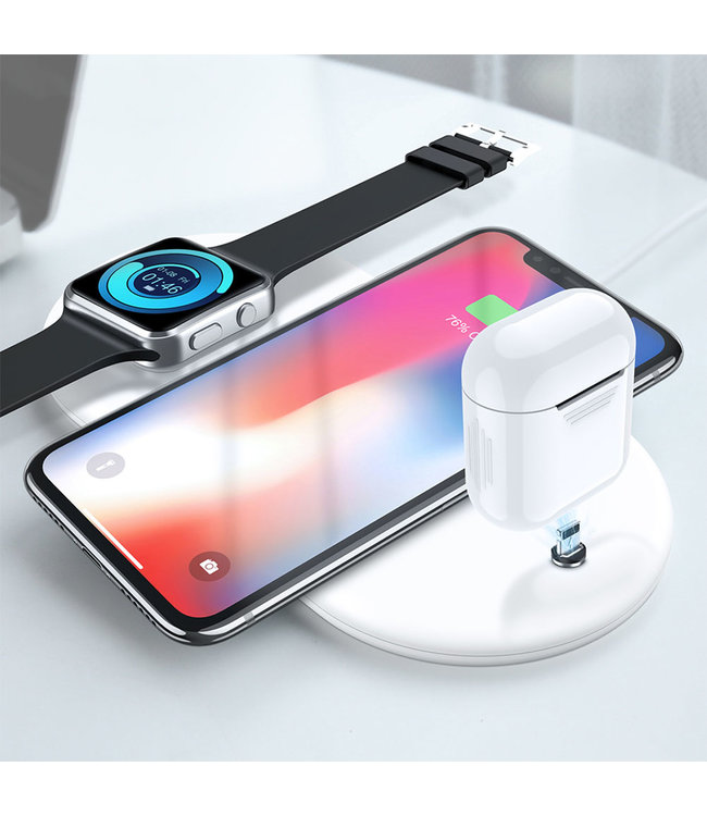 Cool-Zawadi Draadloze 3 in 1 oplader voor Iphone  iwatch en Airpods Wireless Charger