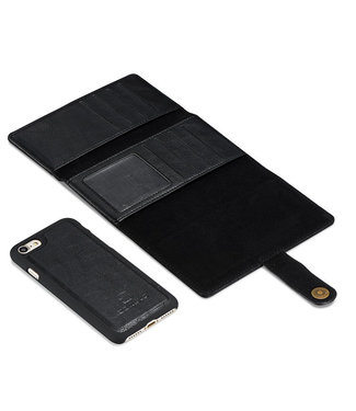 DG-Ming wallet case met verwijderbare backcase DG-ming voor Iphone 7/8 plus - zwart