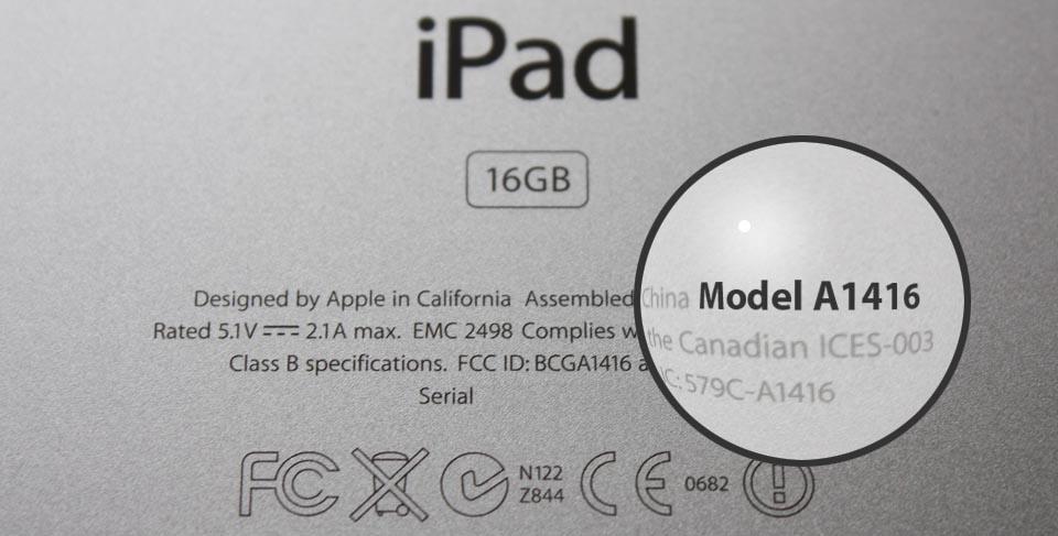 iPad typenummers een overzicht...