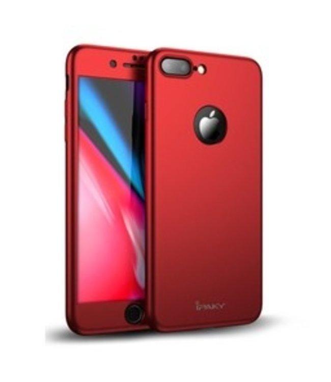 iPaky Hardcase + Screenprotector iPhone 7/8 - Rood - iPaky