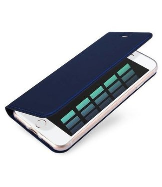 ZWC Book case iPhone 6(s) plus - Blauw - Skin Series