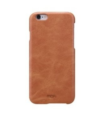 Mofi PU Leren Coating Hardcase iPhone 6(s) - Bruin - Mofi