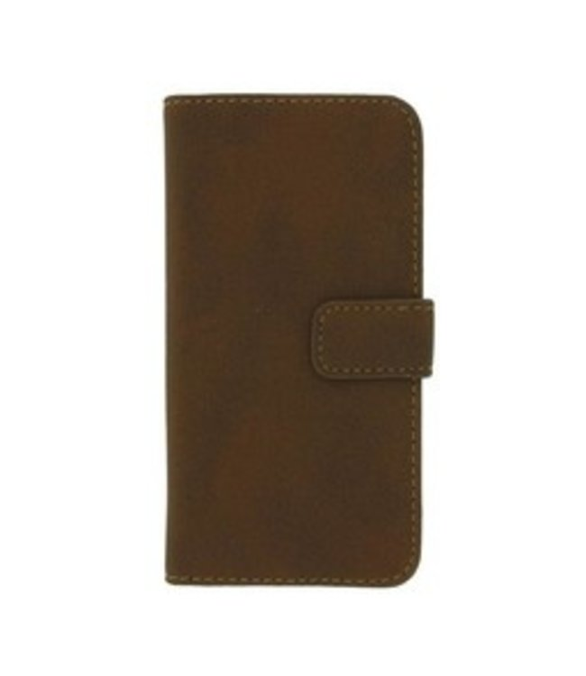 Mjoy Wallet case PU iPhone 5(s)/SE - Bruin - Mjoy
