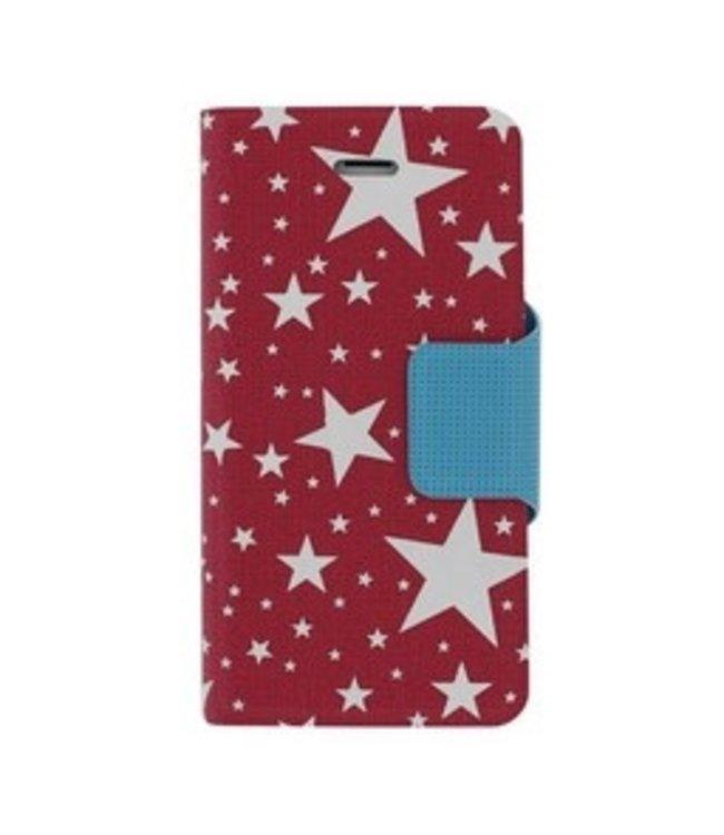 Mjoy Funline Stars Iphone 5/5s - Roze/Wit - Mjoy