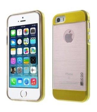 Slicoo Combi Backcase Slicoo iPhone 5(s)/SE - Goud/Geel