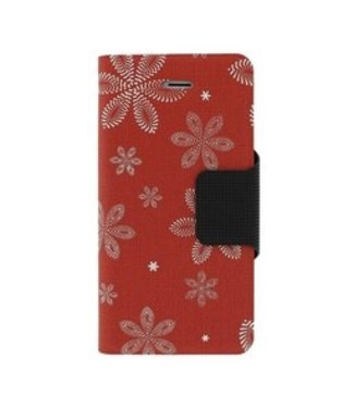 Mjoy Funline Flowers Iphone 5(s)/SE - Rood/wit - Mjoy