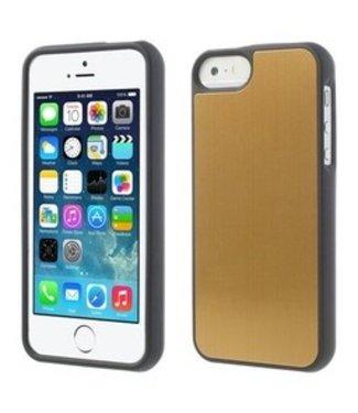 ZWC Aluminium Geborsteld  iPhone 5(s)/SE Case - Goud