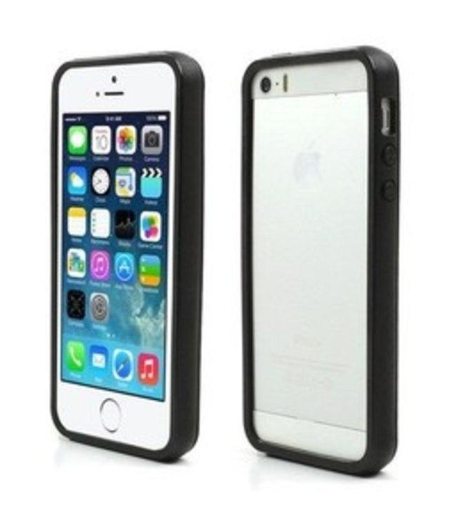 ZWC iPhone 5(s)/SE Soft TPU Bumper - Zwart