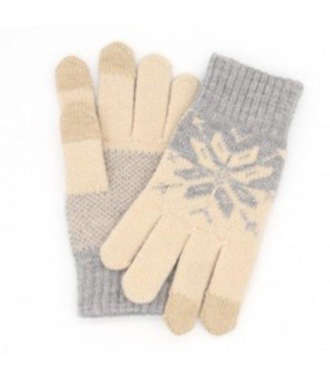 ZWC Touch Handschoenen Wol Universeel - Beige/Grijs - iXiaomi