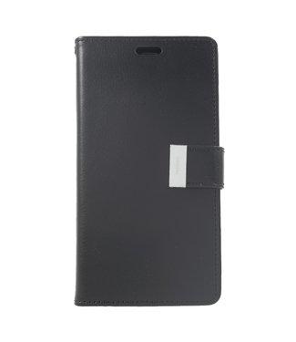 Goospery Leren Wallet case - Rich Diary - iPhone XR - Zwart - Goospery