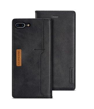ZWC Leren Wallet Case - iPhone 7/8 Plus - Zwart- LC.IMEEKE