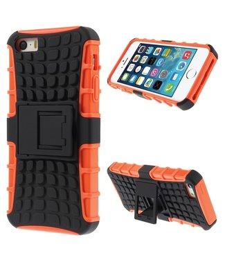 ZWC 2 in 1 TPU en harde kunststof - iPhone 5(s)/SE - Zwart/Oranje